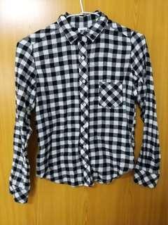 🚚 UNIQLO黑白小格紋襯衫(日本購入)