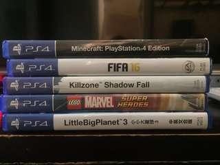 Ps4 Games good condition for swap or sell (can nego).