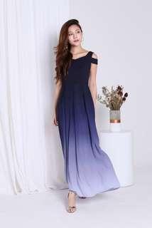 Topazette After Midnight Ombre Maxi Dress (Navy/Grey)