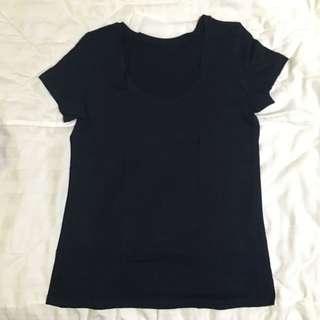 Uniqlo Black Crew Neck T-Shirt