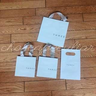 THREE 紙袋緞帶提袋