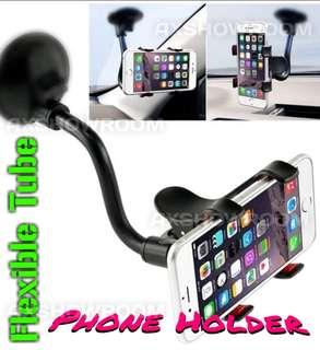 Strong Suction Cup Phone Holder For Car Windscreen. Clamp Clip With Silicone Rubber Cushion