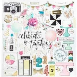 Chipboard 12'' - Celebrate together
