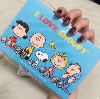 Snoopy明信片組+snoopy筆記