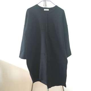 Aland 黑色衛衣連身裙