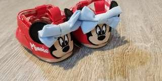 Baby Shoes authentic disney baby girl shoes minnie mouse 0 to 6 mths
