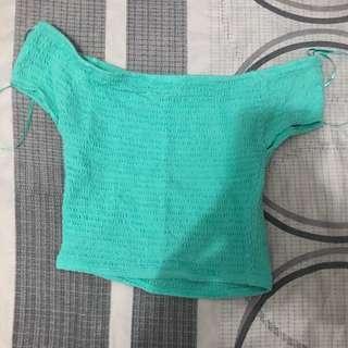 Mint green off shoulders