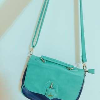 Tiffany綠手提/肩背/側背包包(可拆式)