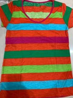 Colorful stripe tee
