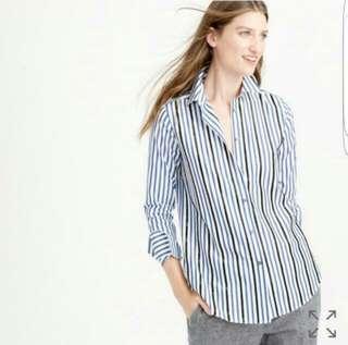 Brand New J Crew Embellished Shirt in Stripe