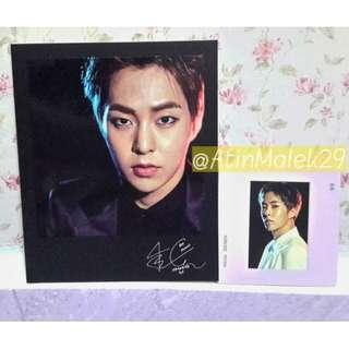 [WTS] XIUMIN OFFICIAL POLAROID & MOUNT PHOTOCARD SET