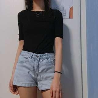 Cotton On Black Sleeved Top