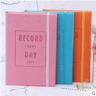 2019 Record Everyday 365 Hardcover Wording Planner Note Book Notebooks Notebook 3 Colours