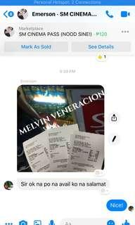MMFF SM CINEMA TICKETS
