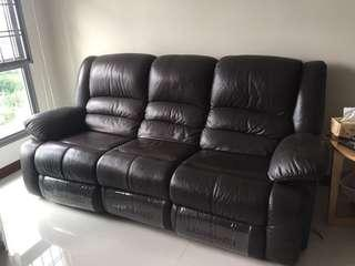 Full Leather Recliner Sofa Lorenzo (3 seater)