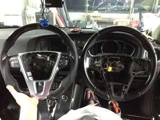 Volvo V40👉2014 Installed Carbon Steering Wheel