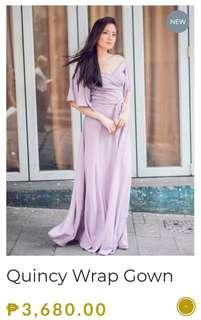 Used Once Apartment Eight Quincy Wrap Gown (Lilac)