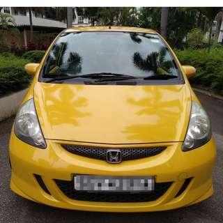 Honda Jazz 1.3L - WITH GOJEK RENTAL REBATE !!!! SUPER ECONOMICAL, SPORTY, SPACIOUS, BRIGHT COLOUR INSIDE & OUTSIDE