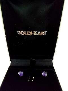 Goldheart Amethyst earrings