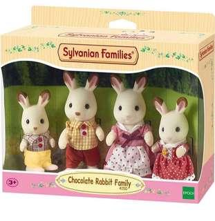 🚚 BN Sylvanian Families/ Calico Critters Chocolate Rabbit Family