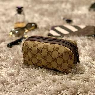 Gucci 化妝袋 make up zipper bag