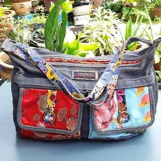 HEDGREN JEANS PATCH SILK BAG