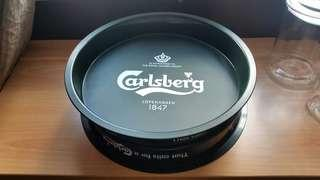 Plastic carlsberg beer serving trays