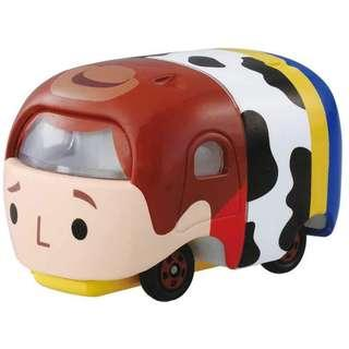 全新 TAKARA TOMY Tomica Disney Motors Tsum Tsum Mini Car Figure Woody 玩具車連原裝盒