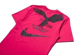極罕色 Off white x Nike A6 tee M size 粉紅色 Pink