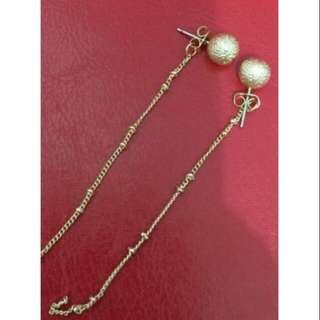 歐風長鏈針式耳環