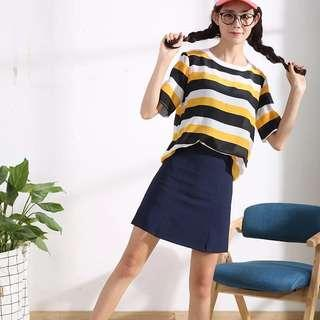 BNWT Navy Blue A line Skirt