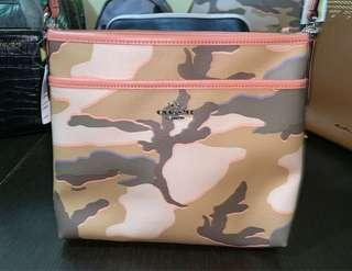 REDUCED‼️Auth. Coach Ladies Camouflage Beige Crossbody Bag