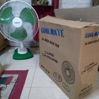 Coolmate desk fan 16-inches brandnew