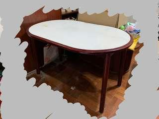 Vintage dinning table with solid wood