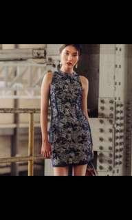 🚚 Fashmob oriental cheongsam dress in navy