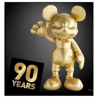 Disney Mickey Mouse Plush 90th Anniversary Gold Collection Large