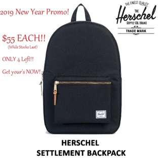 [2019 New Year Promo!] Herschel Bag Settlement Backpack (Black)