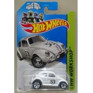 Hot Wheels 2014 香港版 VW Beetle Herbie the Love Bug 甲蟲