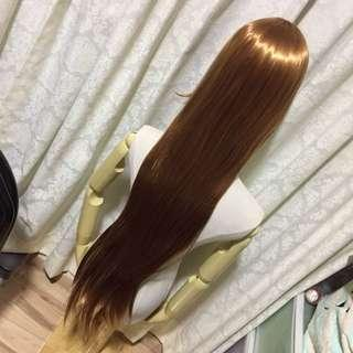 100cm Honey Brown Wig