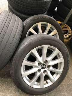 "4 X Mazda 6 17"" Rims & Tyres"