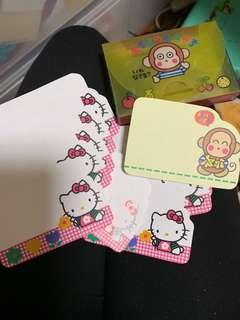 馬騮仔 mix with hello kitty memo