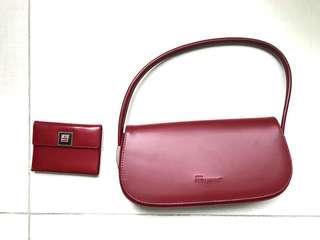 Ferragamo handbag and card holder