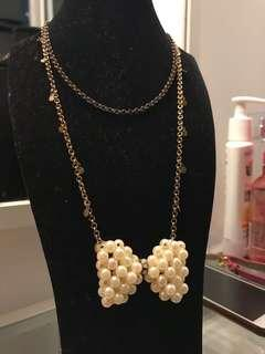 Ribbon Pearl Necklace (FREE POSTAGE)