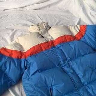 colourblock puffer jacket