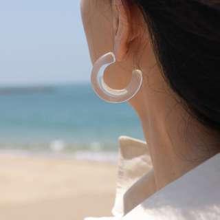 Studiodoe 壓克力透明耳環
