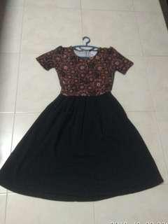 Lularoe amelia floral dress xs