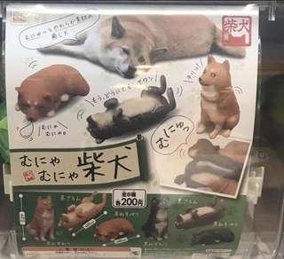 Shiba inu squishy shibe red Black and Tan gachapon gasha capsule toy figurine