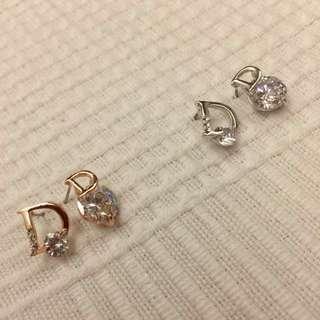 🚚 歐美款式 造型鋯石耳環