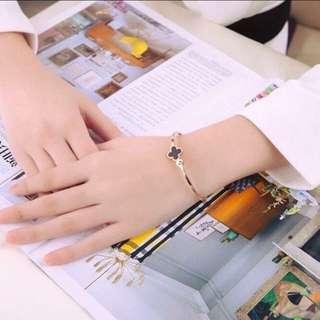 🚚 韓國玫瑰金四葉草 手環