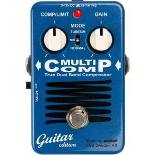 EBS Red Label Series MultiComp GE Guitar Compressor Guitar Effects Pedal